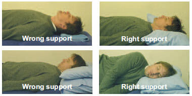 Sleep with a supporting pillow